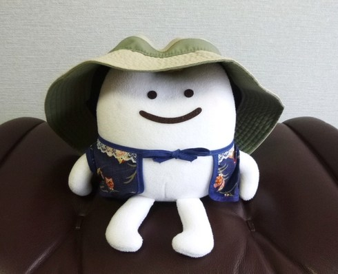 patagonia Wavefarer Bucket Hat & 座敷わらびーちゃん.JPG